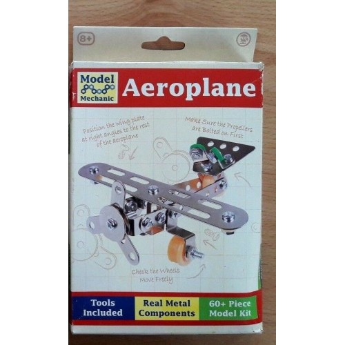 Toy - Model Mechanic Construction Kit - Aeroplane Metal Components with tools