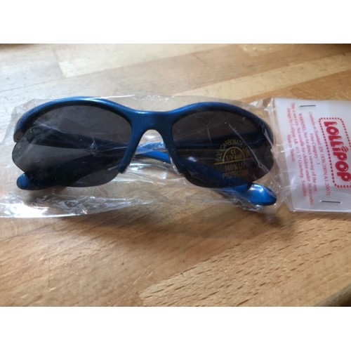 Sunglasses - Lollipop - Sporty - blue  - 3-7 yr - sale  (also available in silver)