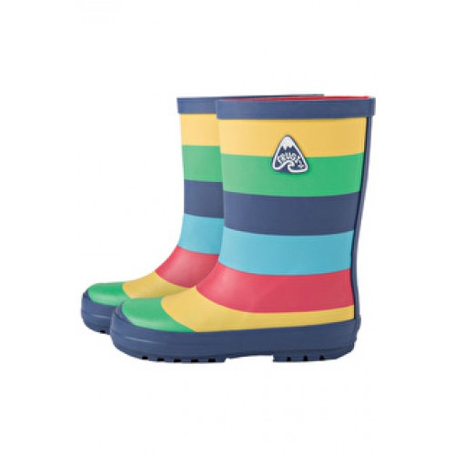 Puddle Buster- Frugi SALE Wellington Boots - Frugi - Rainbow Puddle welly boots - size UK   5, 6, 7,  11, 12 shoe (1x each size in sale)