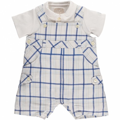 Emile et Rose -  7223 Edgar - 2-in-1 Check Dungarees & Shirt - 1, 3, 6m - sale