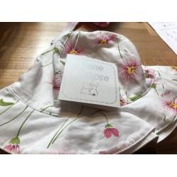 Hat - Emile et Rose - Sunhat - Easter - Pink floral 4649 in 6m - sale