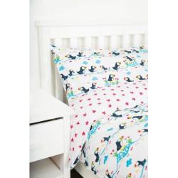 Duvet Set - Frugi - Single - Bed linen - Snoozy Puffin Parade - sale