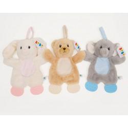 Teether - Bear, bunny or elephant - CHOICE of one (no bunny)