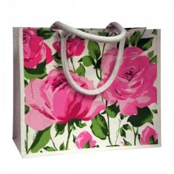 Bag -  Shopper Cotton Bag  - Elegant Floral Design