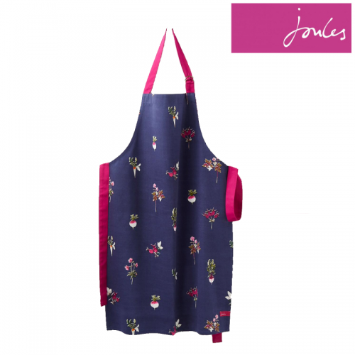 Adult - Apron - Joules  - Pinny Apron - French Navy Botanical  - perfect present for adults -  last one  in sale