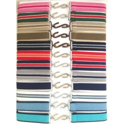 BELT -- SNAKE  BELT - Pink stripe (2--6yr) -2 x available AND Beige stripe (2x available