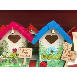 Gift - TOOTH FAIRY HOUSES - 4 x red, 2 x pink  (blue sold)