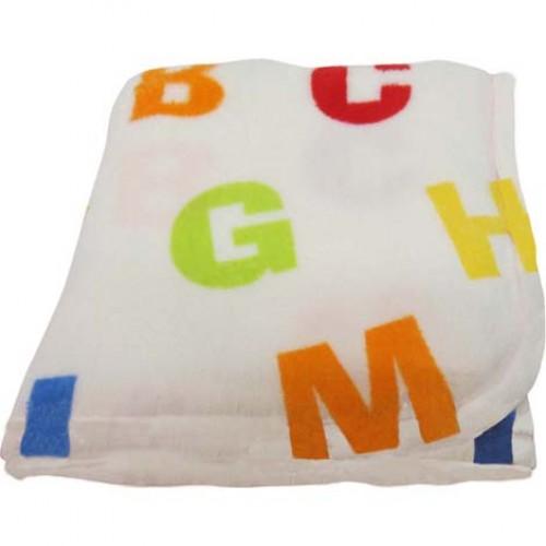 Blanket  -  Soft Fleece Baby blanket - Letters - SALE