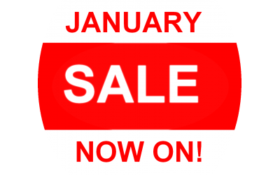 SALE - ends 15th January