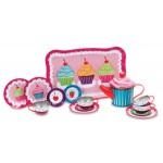 Toy - Children's Tin Tea Set  - Pink cupcakes