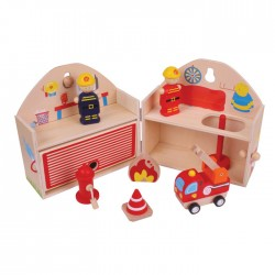 Toys - Mini Fire Station Playset