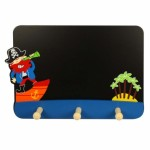 Toys - Educational - Wooden - Blackboard with Hooks - Pirate