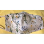 Mask - Face masks  PPE -  white and yellow floral