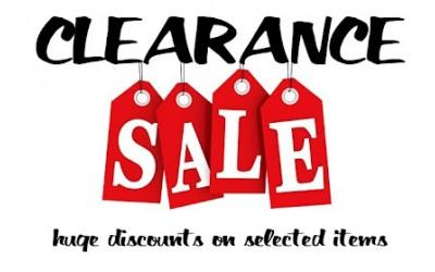 Clearance sale bargains