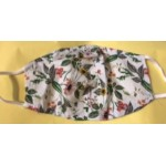 Mask - Face masks  PPE -  white garden with yellow flowers