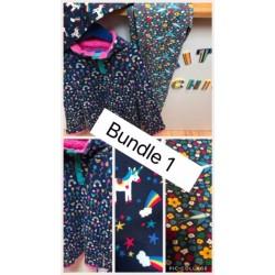 Bundler 1 - Girls 8-9, 9-10 - Girls 8-9, 9-10 - Frugi Reversible Fleece - Perfect Day - 9-10y was £36, Frug leggings - unicorns 9-10y was £15, Frugi Zena Swallows Trousers Leggings 8-9y was £26 - weekend offer £43 including postage - NO REFUND OR RETURN