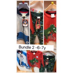 Bundler 2- Boys 6-7 -  Weekend offer - Frugi Isaac jacket, Frugi Dino Jogger Trousers, Frugi Joe dino top - value £77 now £43 incl  £4 postage  - NO RETURN or REFUND