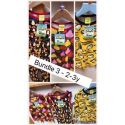 Bundler 3 - Weekend offer - DUNS - 2-3 y - Top - Summer fruits (98), Dungarees mushroom (98) , Puffins velour top (98/104) - now £35 incl postage - no return or refund