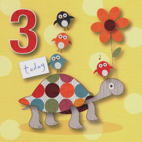 CARDS - Birthday - 3  Today - Turtle - sale