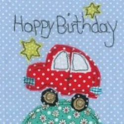 Gift - Card - Happy Birthdy Car