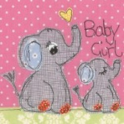 Gift - Card - Girl Elephant