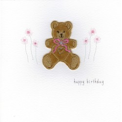 GIFT - Card - Birthday Card - Teddy - handmade