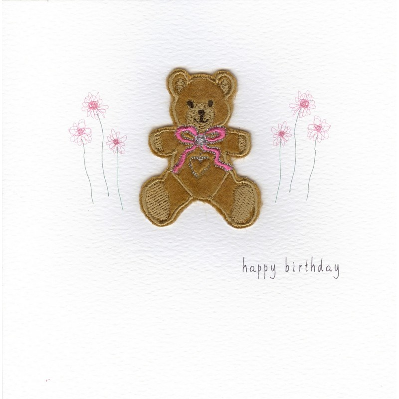 Gift Card Birthday Card Teddy Handmade