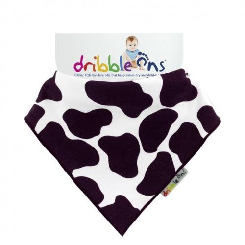 Dribble Ons - Bandana Bibs - Designer Cow