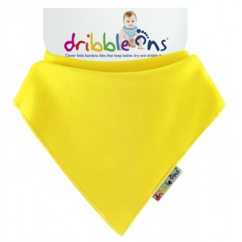Dribble Ons - Bandana Bib - Lemon yellow