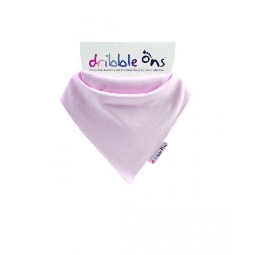 Dribble Ons - Bandana Bibs - Baby Pink