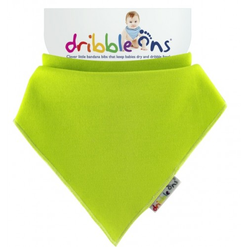 Dribble Ons - Bandana Bib - Lime green