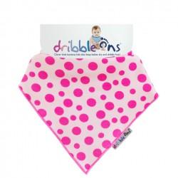 Dribble Ons - Bandana Bibs - Pink Spot