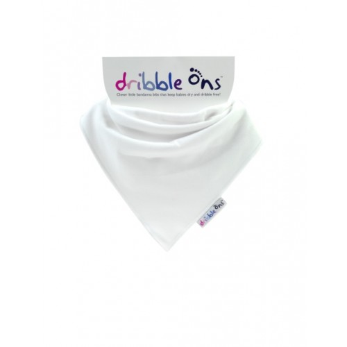 Dribble Ons - Bandana Bibs - White