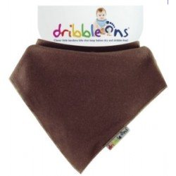 Dribble Ons - Bandana Bib  Chocolate Brown