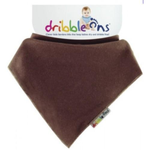 Dribble Ons - Bandana Bib  Chocolate Brown