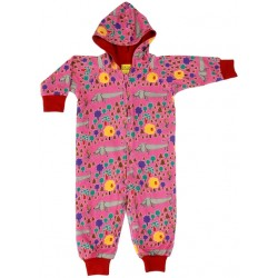 Outerwear - Snuggle Suit  - DUNS -  Snuggle suit with hood - A dogs life - Red dogs -  74/80 - 6-12m very generous sizing -    last one in - CLEARANCE 45% off - No return