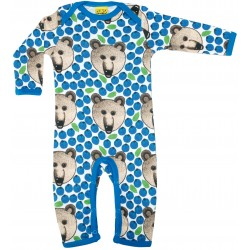 Babygrow -  DUNS - long sleeve suit - Bear - size 50 (NB) - also perfect for memory doll -  last item 45% clearance sale