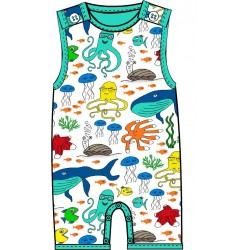 DUNS - Dungarees -  Summer 18 - Sea life - turquoise - 68 (6m)
