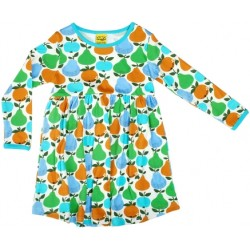 Dress - DUNS -  Fruits Turquoise green  - Long sleeve  -  1-2  and 2-3y   - sale