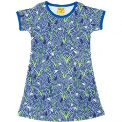 Dress -  DUNS- Snowdrops Blue  - short sleeve - 110 - 4-5y - last item 45% off clearance sale