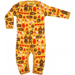 DUNS - Babygrow - Long sleeve suite - Christmas Gingerbread - size 56 (1m)