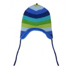 Hat - Toby Tiger Knitted Blue Multi Stripe Hat - LAST one in SALE