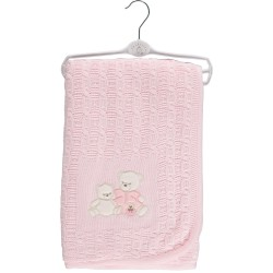 Wrap - Teddy Bear Shawl  Blanket (Pink, Blue or Beige)