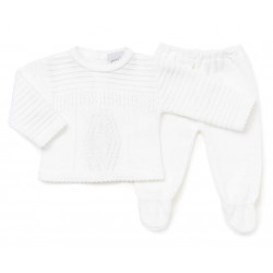 Set - Unisex Knitted 2 piece Cardi and Trousers