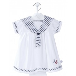 Dress - Baby Sailor Dress - 0-3, 3-6m