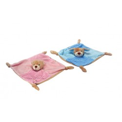 Gift - Blanket/Comforter - Bear - Pink or Puppy - Blue