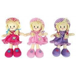 Doll - Rag dolls with hat - 1x - random colour