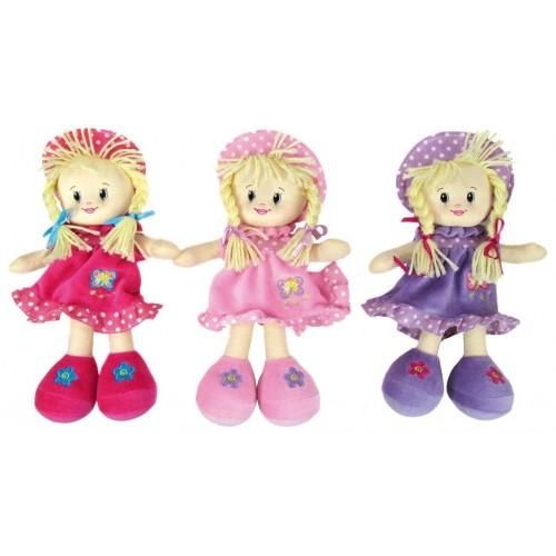 Doll - Rag dolls with hat - 1x - random colour