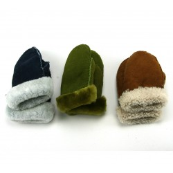 Gloves and Mittens -  CHILDREN'S WHOLE PIECE Lamb sheep skin wool mittens gloves