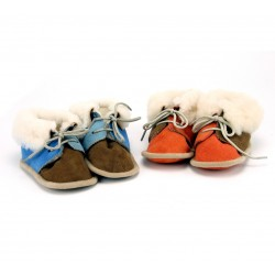 Bootees - DELUXE - 100% sheepskin  - baby - UK kids 2 (0-6m) , UK kids 3, (0-12)m  (EU19), UK kids 4  (6-12m) , UK kids 5 (12-18m) , UK kids 6  (18-24m) - measurement can be over the facebook /photos